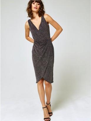 M&Co Glitter wrap dress