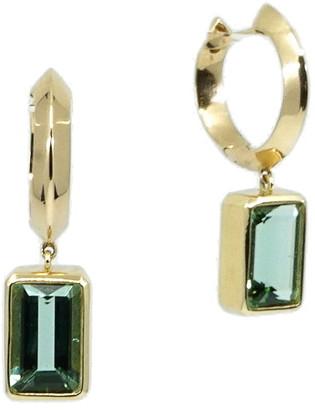 Sorellina Bezel Set Garnet Huggie Hoop Earrings