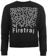 Firetrap Reflective Cropped Crew Sweater Ladies