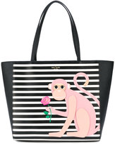 Kate Spade monkey print shoulder bag - women - Leather - One Size