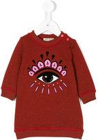Kenzo Eye embroidered sweatshirt dress
