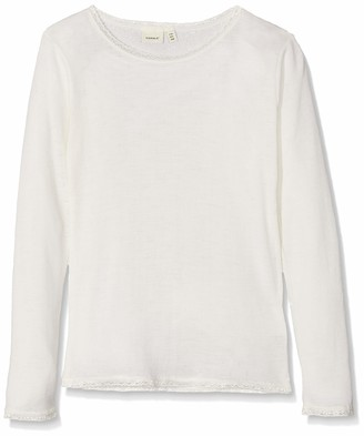 Name It Girl's Nkfwang Wool Needle Ls Top Noos Long Sleeve