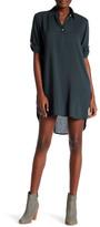 Allen Allen Roll Tab Shirt Dress