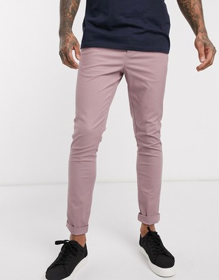 ASOS DESIGN super skinny chinos in warm pink