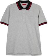 Hugo Darese Grey Stretch Cotton Polo Shirt