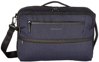 Hedgren 15.6 Focused Three-Way RFID Briefcase (Dark Iron) Handbags