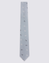 Marks and Spencer Pure Cotton Anchor Print Tie (5-14 Years)