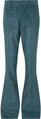 Amiri Metallic Velvet-Jacquard Trousers