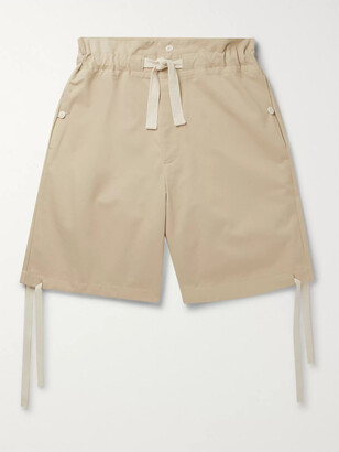 Nicholas Daley Wide-Leg Cotton-Twill Drawstring Shorts