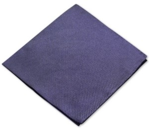 Ryan Seacrest Distinction Men's Textured Solid Silk Pocket Square, Created for Macy's