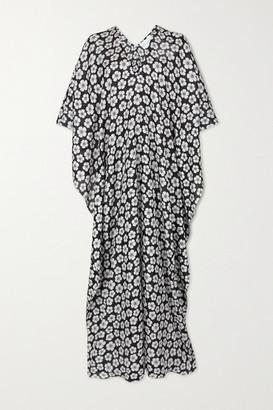 MARIE FRANCE VAN DAMME Floral-print Silk Kaftan