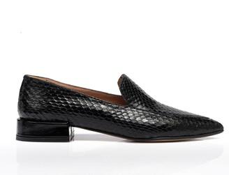 Rania Kroupi Artemis Snake Skin Loafers