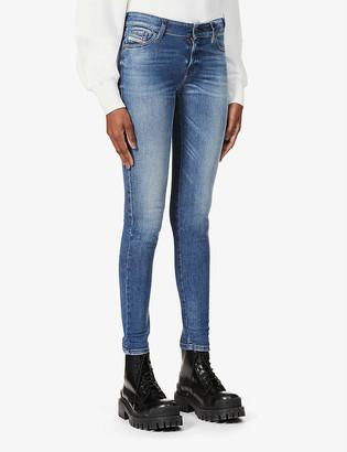Diesel Slandy mid-rise stretch-denim jeans