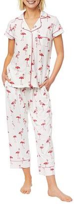 The Cat's Pajamas Flamazing Pima Knit Capri Pajama Set