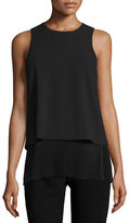 Theory Anastaza Winslow Layered Crepe Top