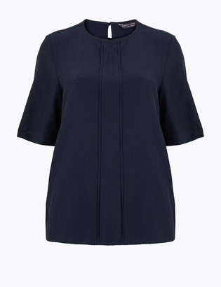 Marks and Spencer Pleat Front Woven Blouse