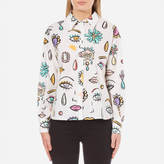 Moschino Women's Eye Print Shirt White