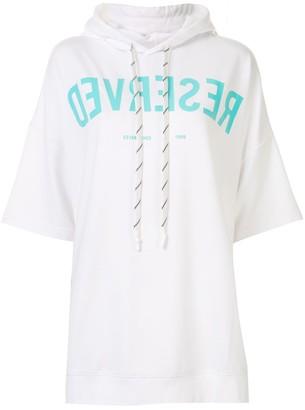 Izzue Reserved slogan hoodie