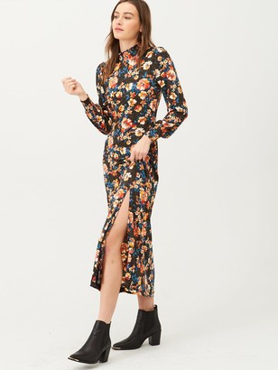 Very Floral High Neck Jersey Maxi Dress - Multi
