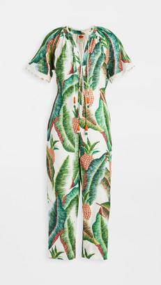 Farm Rio Forest Palm Linen Jumpsuit