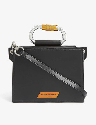 Heron Preston Carabiner leather cross-body bag