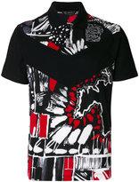 Versace Clan print polo shirt
