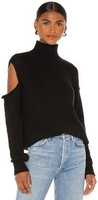 The Range Prime Cotton Knit Slashed Turtleneck Sweater