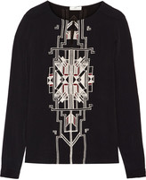 DAY Birger et Mikkelsen Embroidered crepe top