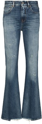 Golden Goose Karen distressed-effect bootcut jeans