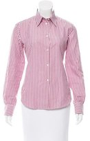 Loro Piana Striped Long Sleeve Button-Up