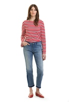 Country Road Patched Straight Leg Crop Jean