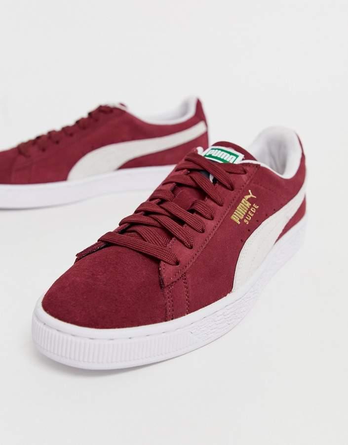 big sale ba458 3ab37 Puma Red Suede Shoes For Men - ShopStyle UK