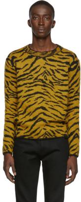 Saint Laurent Yellow Zebra Sweater