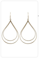 Tina Tang Double Teardrop Hoops