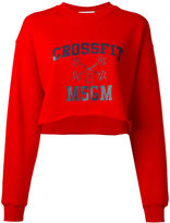 MSGM Crossfit cropped sweatshirt - women - Cotton - L