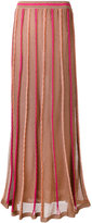 M Missoni ribbed details semi-sheer skirt - women - Polyamide/Polyester/Viscose/Metallic Fibre - 40