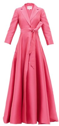 Carolina Herrera Notch-lapel Belted Gown - Pink