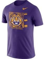 Nike Lsu Tigers Men's Dri-fit Cotton Team Issue T-Shirt