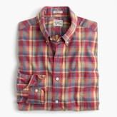 J.Crew Secret Wash shirt in heather poplin red-and-yellow plaid