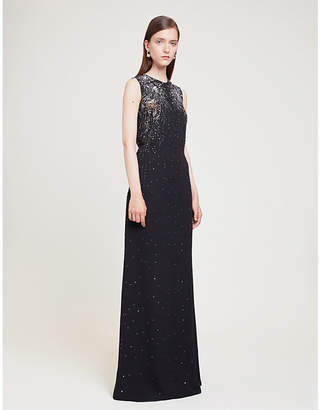 Givenchy Sequin-embellished crepe gown