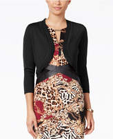 Thalia Sodi Chiffon-Trim Bolero Cardigan, Only at Macy's