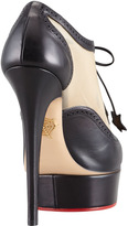 Charlotte Olympia Astaire Mesh Platform Oxford Bootie, Black