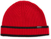 Burberry Men's Ribbed Cashmere Beanie Hat