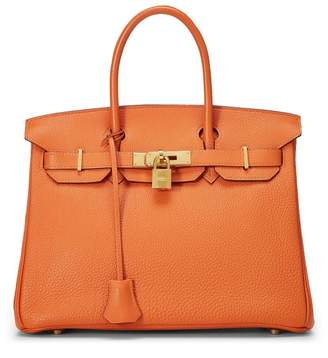 Hermes Orange Togo Birkin 30