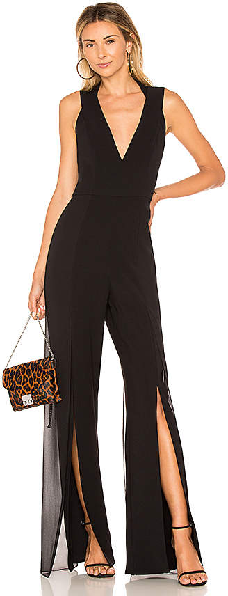 Halston V Neck Jumpsuit