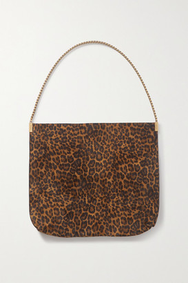 Saint Laurent Suzanne Medium Leopard-print Suede Shoulder Bag - Leopard print