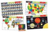 Melissa & Doug ; Advanced Subject Skills Placemat Set: United States, Presidents, Countries of the World, and Planets