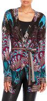Custo Barcelona Kimono Cahir Printed Tie-Belt Cardigan