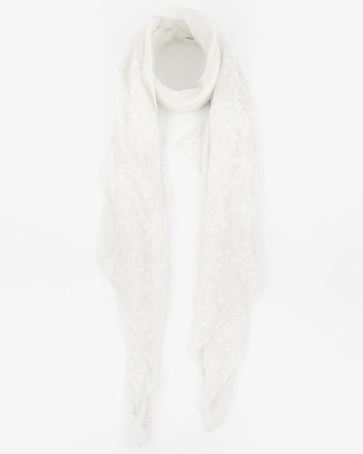 Le Château Embroidered Viscose Blend Lightweight Scarf