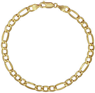 FINE JEWELRY 10K Gold 9 Inch Hollow Figaro Chain Necklace